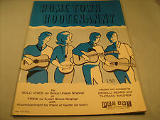 Vintage Sheet Music HOME TOWN HOOTENANNY Gerald Sears 1964 [Y35]