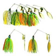 4PCS Hard Lure Spinner Bass Bait Tackle Fishing Freshwater 17.4g Assorted Hook