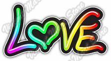 "Love Peace Friend Neon Light Type Colorful Car Bumper Vinyl Sticker Decal 6""X3"""