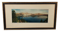 VINTAGE FRANK PATTERSON CRATER LAKE NATIONAL PARK TINTED PHOTO PHOTOGRAPH