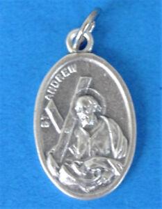 "St Andrew Avelino / Pray for Us Oxidized Medal (7/8"" x5/8"")"