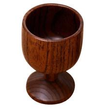 Vintage Wood Goblet Cup Handmade Wooden Tea Coffee Mug Juice Wine Beer Cup