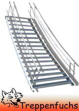 17 Stufen Stahltreppe beidseitigem Geländer Breite 100 cm Geschosshöhe 282-350cm