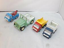 Lot Of 4 Tonka Trucks Jeep, Loaders Pressed Steel Vintage Made In Usa