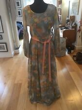 Unbranded Poly cotton Seventies Floral Maxi Dress Size 8/10