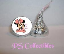 108 MINNIE MOUSE BABY SHOWER KISS STICKER CANDY LABEL PARTY FAVORS ANNOUNCEMENTS