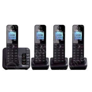 Panasonic KX-TGH264EB Link to Mobile Cordless Quad Dect Phone Nuisance Block