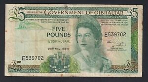 Gibilterra / Gibraltar - 5 pounds 1975 BB-/VF-  C-10