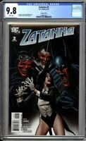 Zatanna 2 CGC Graded 9.8 NM/MT Brian Bolland 1:10 Variant DC Comics 2010