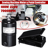 220V 100W 7000RPM Universal Home Sewing Machine Motor Foot Pedal Control Set