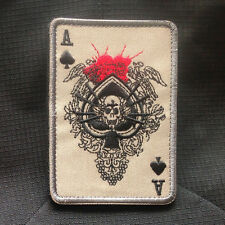 Poker Spades A Dead Mans Hand Aces & 8'S Navy Seal Army Ops Badge Hook Patch #02