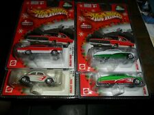 4 LOT Hot Wheels 2004 Holiday Rods 67 Dodge Charger Larry Wood VW BEETLE PASSION
