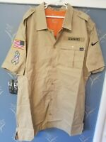 Nike Salute to Service Sideline SEATTLE SEAHAWKS NFL Button-Up Short Sleeve Sz M