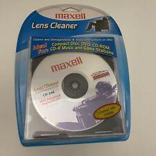 Maxell Cd-340 190048 Cd Lens Cleaner NIP