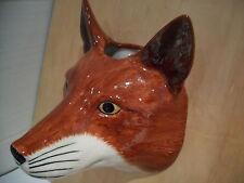 STUNNING CERAMIC FOX  WALL VASE/PLANTER BY QUAIL CERAMICS BOXED IDEAL GIFT