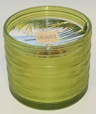 NEW BATH & BODY WORKS COCONUT LEAVES SCENTED CANDLE 3 WICK 13.5 OZ LARGE GREEN