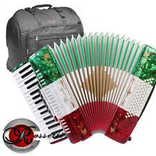 Rossetti 3460 60 Bass 34 Keys 5 Switch Piano Accordion RED WHITE GREEN + BAG