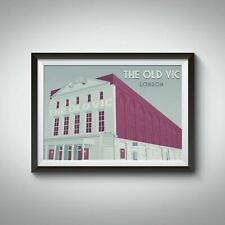 More details for the old vic theatre london travel poster - framed - vintage - bucket list prints