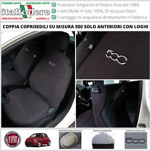 COPPIA COPRISEDILI Fiat 500 SU MISURA Fodere Foderine SOLO ANTERIORI Antracite
