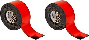 """2 Pack 3M Scotch 30lb Extreme Double Sided Mounting Tape Indoor Outdoor 1"""" x 60"""""""
