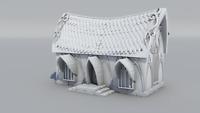 Warhammer Age of Sigmar-Décor impréssion 3D Maison Elfe Simple
