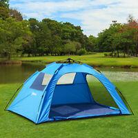 Outsunny Campingzelt Sekundenzelt Zelt Automatik 2 Personen wasserdicht Blau