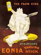 Publicité atkinsons Eonia shaving stick mousse king vintage razor poster BB7781B
