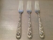 S Kirk /& Son 925 Sterling Silver Repousse Dinner Fork 7 1//4 luncheon Free S//H
