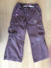 Coole Hose von Gap 2-1 braun mit Stickerei Gr. 4-5 Jahre 98/104 !!!