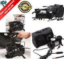 Portable Air Compressor LED Car 12V Pump Auto Tire Inflator Heavy Duty Powerful