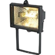 2 X Homebase 120w Black Floodlight Mains Powered Flood Light 1d1