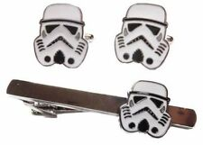 Star Wars STORM TROOPER HELMET Metal/Enamel TIE CLIP & CUFFLINK SET