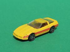 Hot Wheels yellow 1980 chevrolet Corvette vintage diecast car Mattel China 82'
