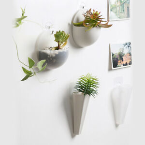 New Plastic Wall Mounted Flower Pot DIY Hanging Planter Plant Holder