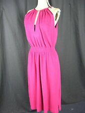 WEAR-ABOUTS Vtg 70s Burgundy French Terry Disco Sleeveless Dress-Bust 42/M