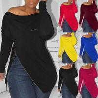 Plus Size Boho Women Long Sleeve Kaftan Baggy Blouse T Shirt Tops Casual Tunic