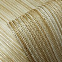 Wallpaper Brass metallic Gold wall coverings Textured faux grasscloth texture 3D