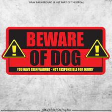 Beware of Dog / sticker / caution / warning / door / attention / animal / vinyl