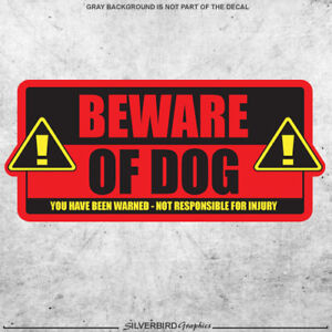 Beware of Dog / sticker / caution / warning / door / attention / animal / vinyl