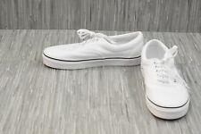 VANS Era Lace Up Canvas Skate Shoes, Men's 7.5/Women's 9, White