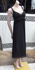 Blank London M EXQUISE 100% Pure Soie Noir élégant AM/PM robe chic cocktail