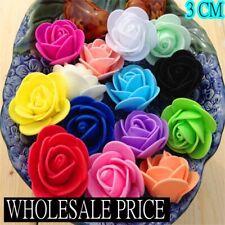 100/500 Foam 3cm Roses Wedding Craft Flower Party Decoration Favour 15 Colour UK