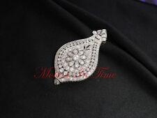 C.H. Meylan Vintage Platinum and Diamond Pendant Watch with Stunning Floriate