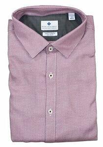 Ryan Seacrest Slim Fit Dobby Geo Non-Iron Long Sleeve Button Down Shirt NWT