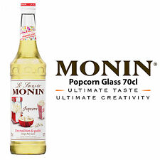 MONIN Coffee Cocktail Syrups - 70cl Glass POPCORN Syrup - USED BY COSTA COFFEE