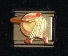 Baseball -Sports- Italian Charm Bracelet Link 9mm - California Charms