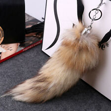 Large Faux Fox Tail Keychain Tassel Bag Tag Charm Handbag_Pendant