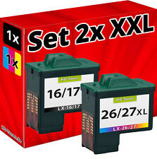 TINTE PATRONEN für LEXMARK 16+26 X1110 X1130 X1140 X1150 X1155 X1160 X1170 X1100