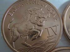.999 fine Copper oz  Round Erymanthian wild  Boar pig (3)