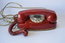 Vintage Red Bell Systems Rotary Dial Princess Phone